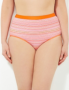 Orange Micro Stripe Cotton Full Brief