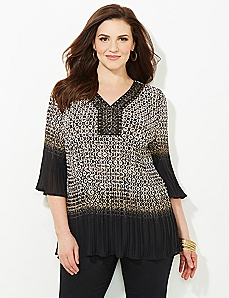 Wild Winds Pleated Blouse