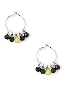 Midnight Glow Hoop Earrings