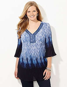 Oceania Pleated Blouse
