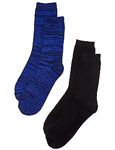 2-Pack Solid & Space Dye Socks