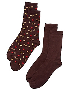 Fall Leaves 2-Pack Socks