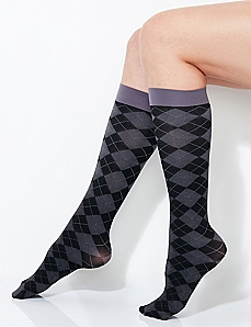 Tonal Argyle Trouser Socks