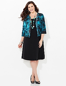 Electric Night Jacket Dress