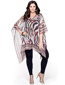 Untamed Stripe Poncho
