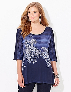 Paisley Ripple Top