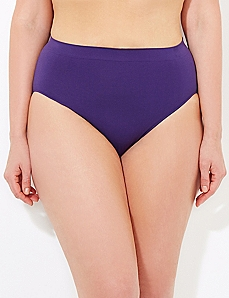 Purple Seamless Hi-Cut Brief