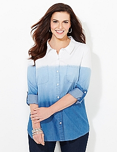 Dip-Dye Denim Shirt