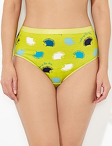 Hedgehog Cotton Hi-Cut Brief