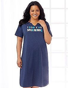 No More Mornings Sleepshirt