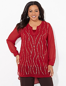 Sequin Stream Blouse