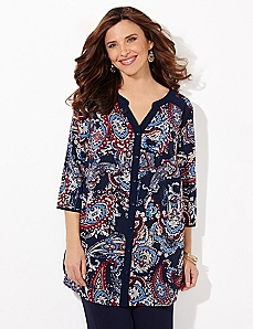 Paisley Artwork Blouse