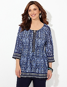 Wavescape Pleated Blouse