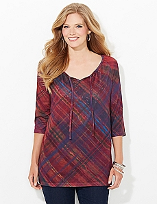 Illusion Plaid Top