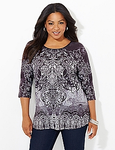 Lace Scroll Top