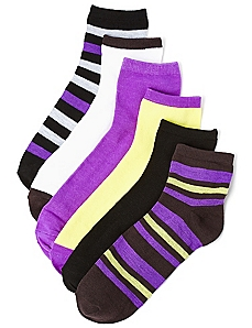 Vibrancy 6-Pack Quarter Socks