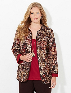 Floral Mix Reversible Jacket