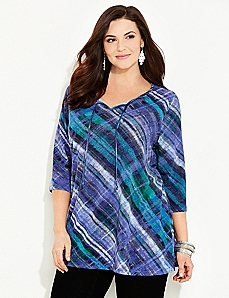 Paintbrush Plaid Top