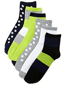6-Pack Essential Prints Socks
