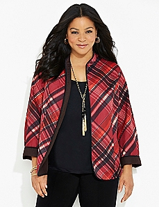 Plaid Reversible Jacket