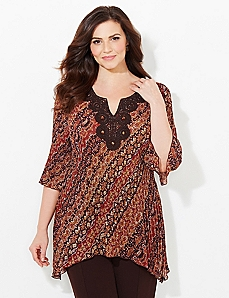 Desert Line Pleated Blouse