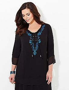 Wistful Lace-Up Tunic