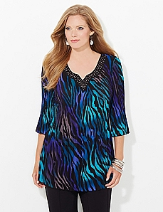 Animal Electric Pleated Blouse