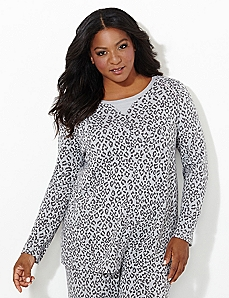 Cozy Collection Leopard Lounge Top