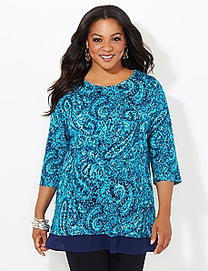 Paisley Illusion Tunic