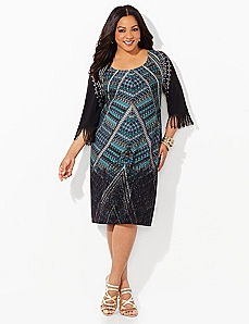 Fringe Finesse Shift Dress