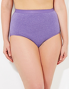 Purple Heathered Cotton Full Brief