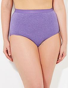 Purple Heathered Cotton Full Brief