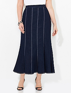 Streamline Denim Skirt