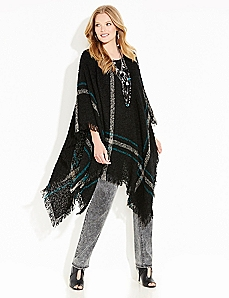 Willow Ridge Plaid Poncho