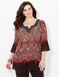 Flow & Fade Pleated Blouse