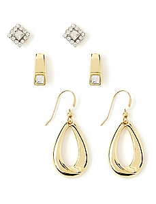 Triple Elegance Earring Set