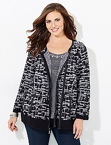 Black Label Shadow Box Cardigan