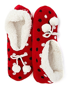 Polka Dot Bootie Slipper