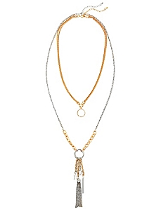 Two-In-One Tassel Necklace
