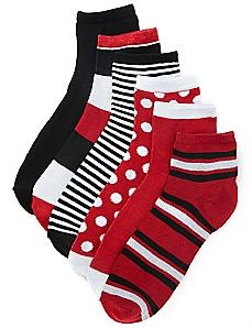 Active 6-Pack Quarter Socks