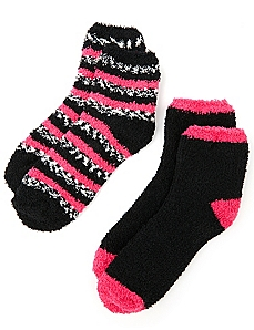 Cozy Marble Stripe 2-Pack Socks