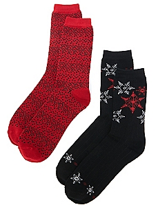 Snowflake Sprinkle 2-Pack Socks