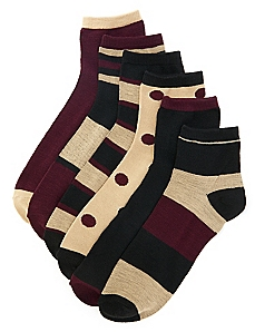 Active Pop 6-Pack Quarter Socks