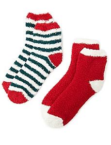 Cozy Holiday Stripe 2-Pack Socks