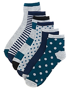 Active Glamour 6-pack Quarter Socks