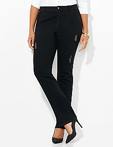 Black Label Distressed Dazzle Jean