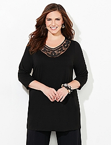 AnyWear Sutton Embellished Tunic