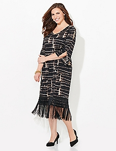 Fringe Illusion Dress