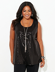 Sequin Senses Tank