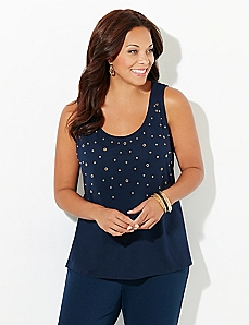 Grommet Glam Top